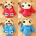 Теплые Детские Зимние Куртки Девушки Мальчики Толстовки Руно Животных Panda Пальто Размер 6-24 М