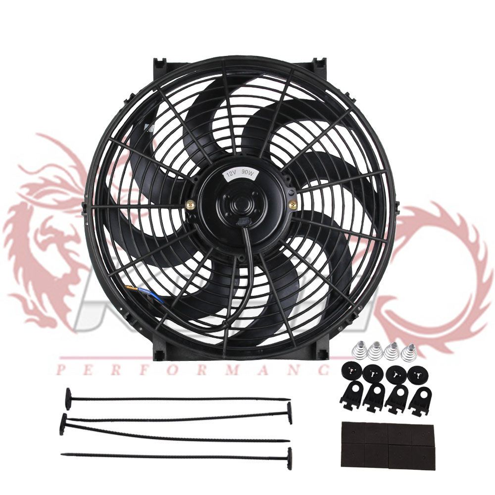 "14/"" Reversible Electric Cooling Fan w//Mount Kit 14 inch"