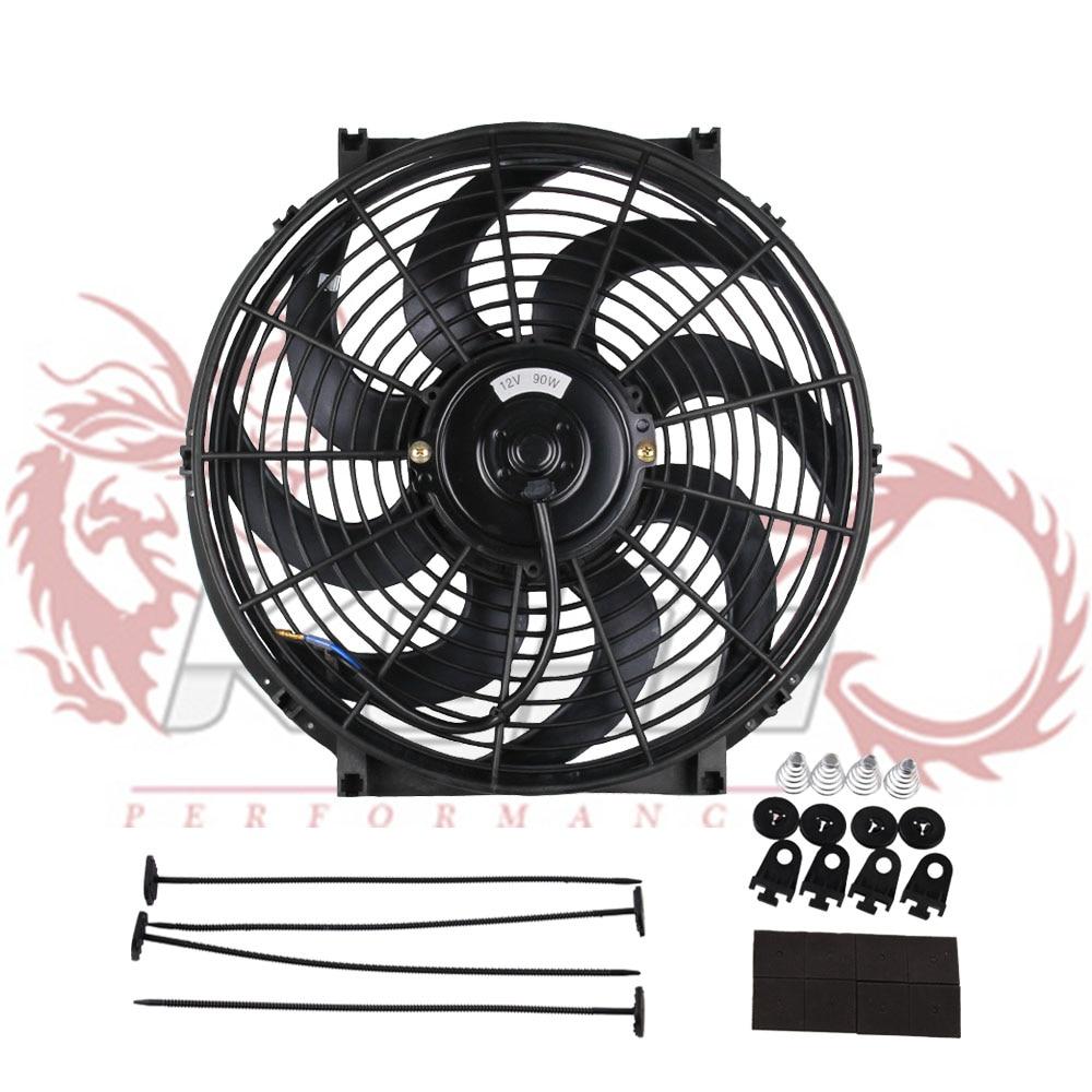 "2 X 9/"" Blue 1500 CFM Electric Cooling Slim Push Pull Radiator Fan Universal 1"