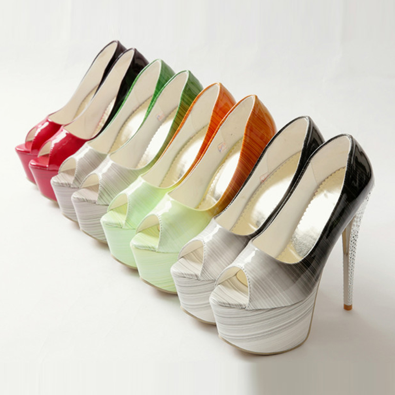 5da5c89d160241 Designer Dames Noir Sexy Casual Plate Peep Automne Femme Sarairis Office De  Printemps Haute Chaussures Toe Party forme ...