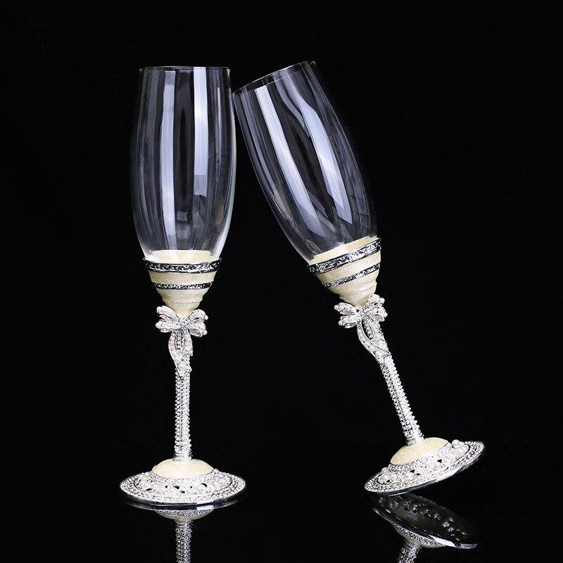 Le meilleur cadeau de mariage perle Champagne verres de grillage de mariage cadeau de douche de mariée pour la décoration de mariage gobelet
