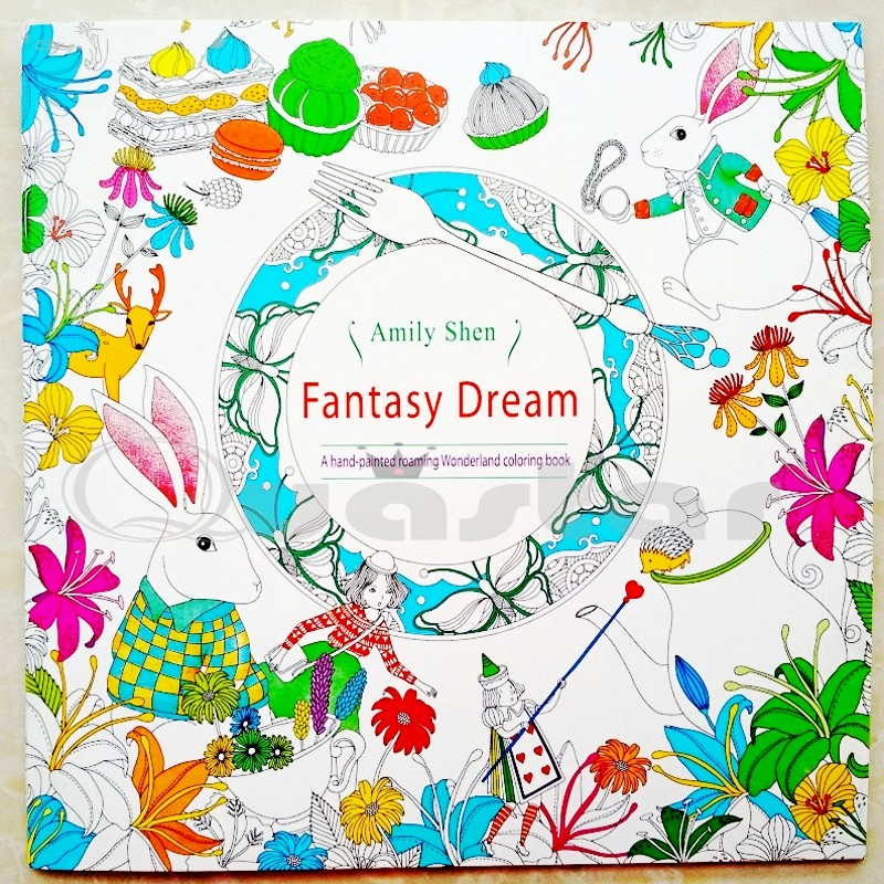 Us 3 98 Small Fantasy Dream 18 5x18 5 Libros Para Colorear Adultos Antistress Coloring Book For Adults Livre Coloriage Adulte Libros In Books From