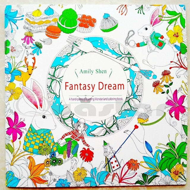 Small Fantasy Dream 18.5x18.5 libros para colorear adultos ...