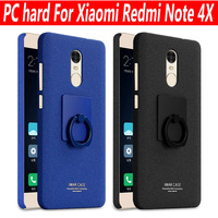 Imak Cowboy Frosted Case Cover For Xiaomi Redmi Note 4X Finger Grip Ring Holder Hard PC