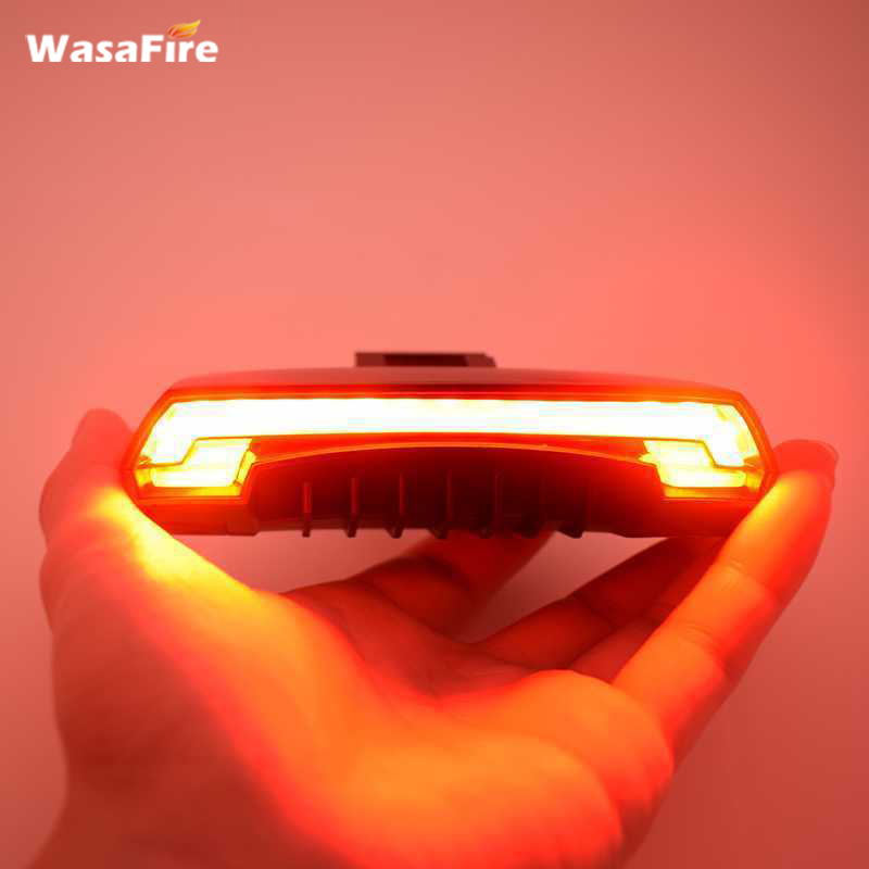 WasaFire X5 Wireless Bike Bicycle Rear Warning Light laser tail lamp Smart USB Rechargeable Cycling Accessories Remote Turn LED meilan x5 wireless bike bicycle rear light laser tail lamp smart usb rechargeable cycling accessories remote turn led