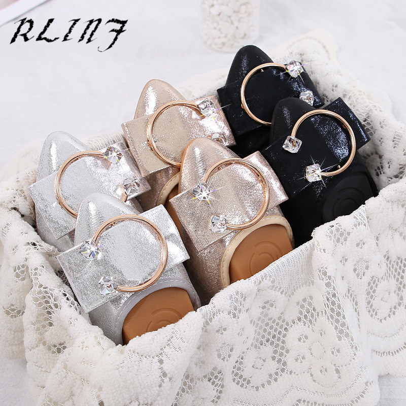 Fond Taille Simples or Egg De Maman Chaussures Grande Noir Roll Casual Pois Femmes argent Mou Plat Avec Rlinf wRqzX1nn