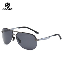 KDEAM 2019 Mens Sun Glasses TAC LensTop Luxury Brand Polarized Sunglasses Pilot Driving Mirror Male Eyewear