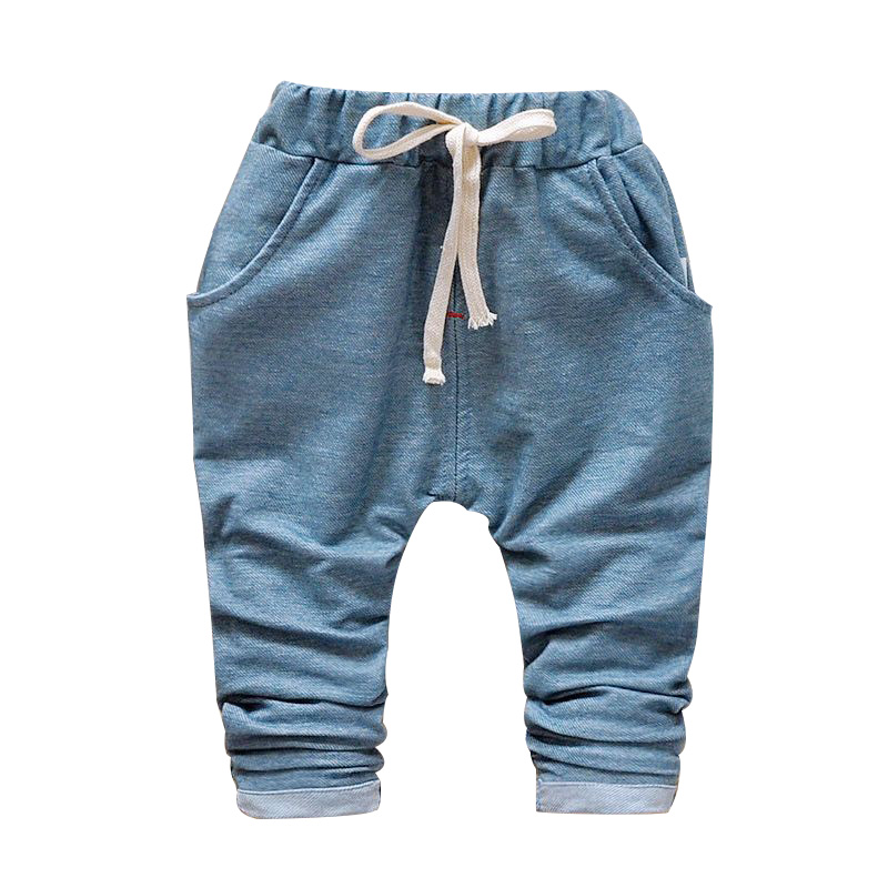 2017 new spring Autumn children harem pants fashion cotton high quality baby boy pants kids harem pants 1-5 year children pants kimocat boy and girl high quality spring autumn children s cowboy suit version of the big boy cherry embroidery jeans two suits