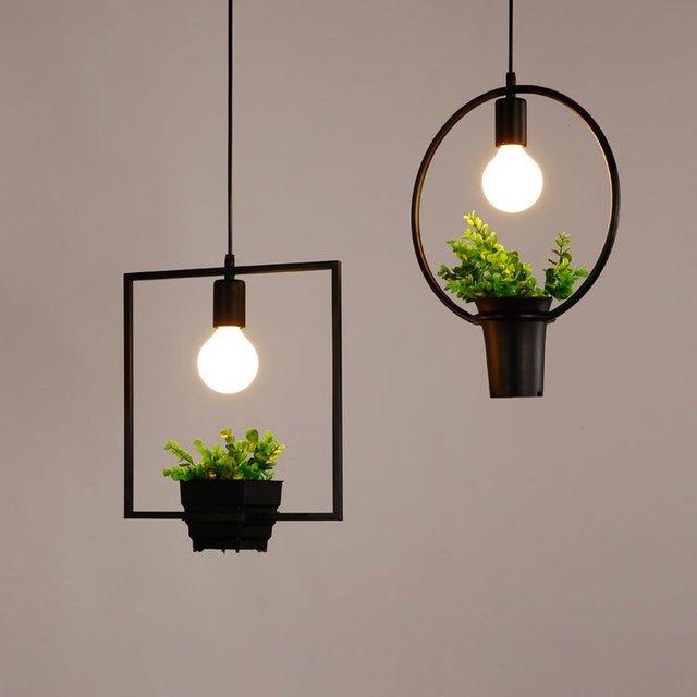 decoracin para colgar floreros con luces bar decor macetas florero de metal