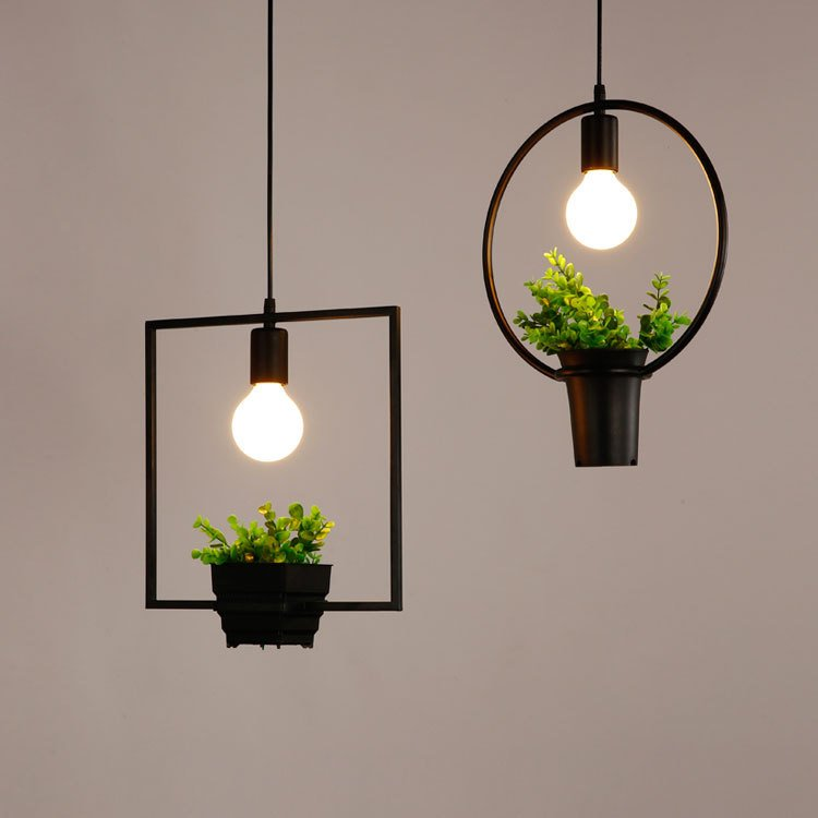 Home Decor Hanging Flower Vases With Lights Bar Decor
