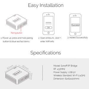 Image 5 - Sonoff interruptor wifi automação residencial, rf bridge, wifi 433 mhz, interruptor universal para automação residencial, controle remoto