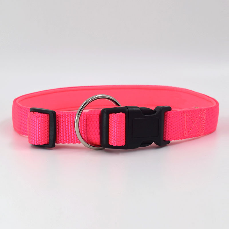 Durable Adjustable Sofe Fashion Nylon Pet Dog Collar for Large medium Small Dogs in Collars from Home Garden