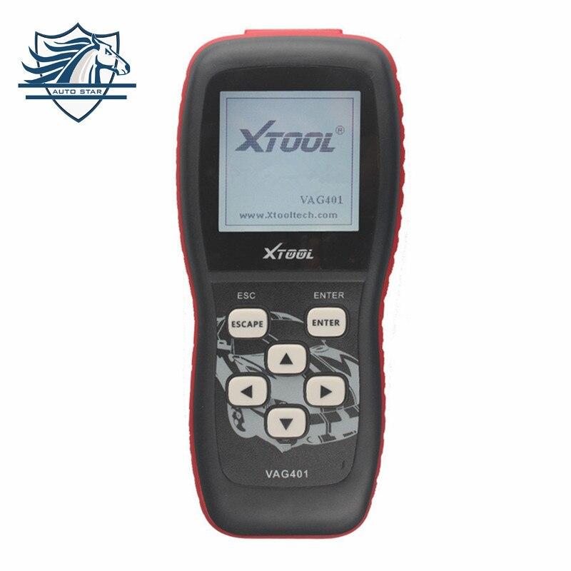 Цена за Лидер продаж 100% первоначально Xtool VAG401 VAG двигателя передачи Подушка безопасности ABS OBD2 коды автоматический диагностический сканер