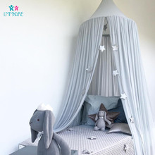 купить Cotton Baby Crib Netting Summer Chiffon Solid Color Baby Mosquito Dome Tent Bed Curtain Children's Room Decoration Bedding Set по цене 1791.76 рублей