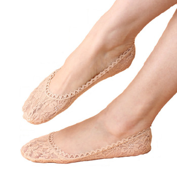 Fashion Women Lace Antiskid Socks 5pairs/Lot Female Invisible Low Cut Socks Slippers Shallow Mouth Summer Ankle Heal Short Sock fashion women lace antiskid socks 5pairs lot female invisible low cut socks slippers shallow mouth summer ankle heal short sock