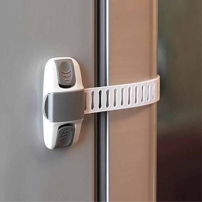 4Pcs/Lot Child Safety Multifunctional Adjustable Drawer Lock Safety Lock Protection Drawer Cabinet Refrigerator Lock ATRQ0469