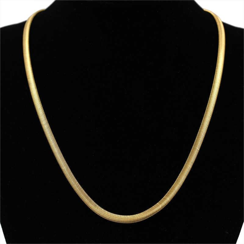 Золотой ювелирный набор для мужчин, змейка, лисохвост, звено цепи, ожерелье, браслет, набор, ювелирные изделия оптом