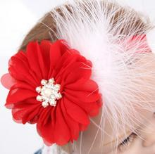 TWDVS Kids Christmas Headband Feather Bow Snow Flower Hair Band Girls kids Headwear Merry Christmas Hair Accessories W245