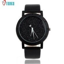 OTOKY Willby модные часы со звездами для женщин и мужчин, с блестками, часы с Луной, стрелки, искусственная кожа, кварцевые наручные часы 161212, Прямая поставка