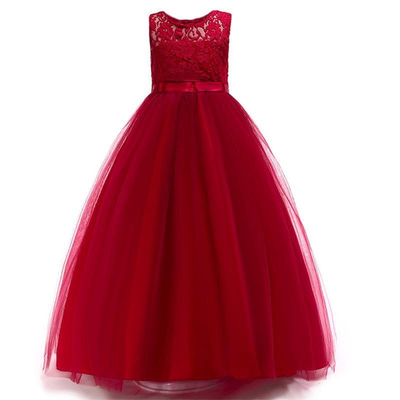 Kiskereskedelmi csipke sifon elegáns magas minőségű lányok estélyi ruha ruha szíj nyak lányok nyári esküvői ruha Lace006