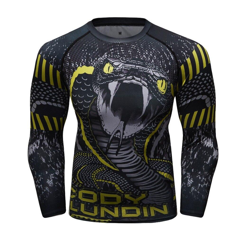 New Compression Shirt Rash Guard Long Sleeve BJJ Tops T Shirt 3D Print  Fitness Quick Dry 997e07eb09b9b