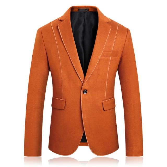 Men s large size suit solid color slim suit jacket aa8cc6a2b1ed