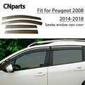 CNparts 4 pcs ABS Para Peugeot 2008 2014 2015 2016 2017 2018 Janela Fumaça Pala de Sol Do Carro Manter O Ar Fresco acessórios de convecção