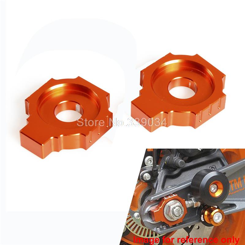 Motorcycle CNC Rear Axle Blocks Chain Adjuster For KTM 125 200 390 Duke 2011-Up RC 125 200 390 2014-Up for ktm logo 125 200 390 690 duke rc 200 390 motorcycle accessories cnc engine oil filter cover cap