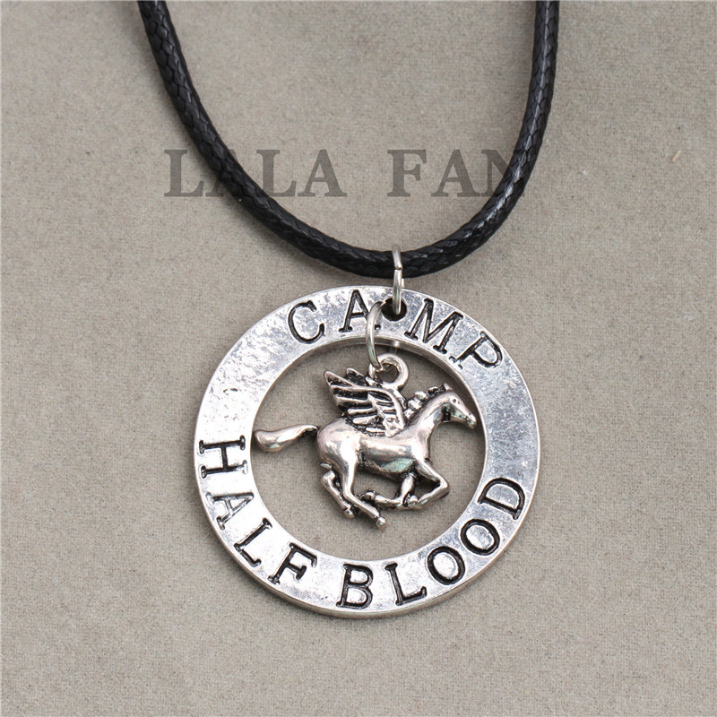 Percy Jackson Camp Half Blood Necklace Fan Gift Jewelry XL176