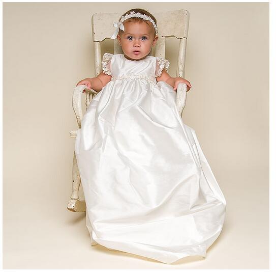 Baby Girl's Christening Dress 2017 Europe Luxury Toddler Long Formal Dress Lace Headband White Newborn Birthday Baptism Dresses europe s long twelfth century