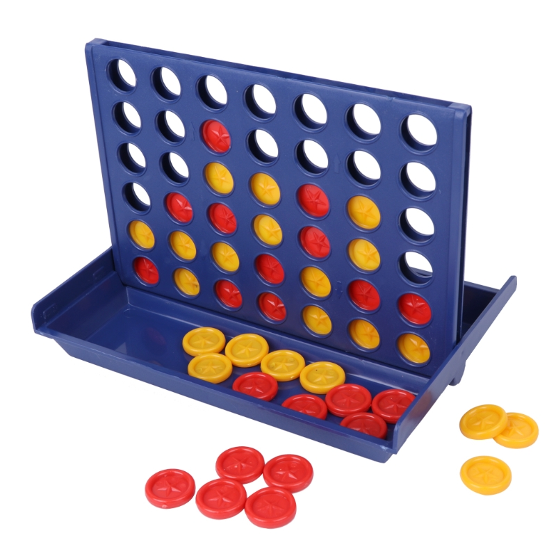 Educational Toy Connect 4 Game Classic Master Foldable Kids Children Line Up Row Board Toys Gift