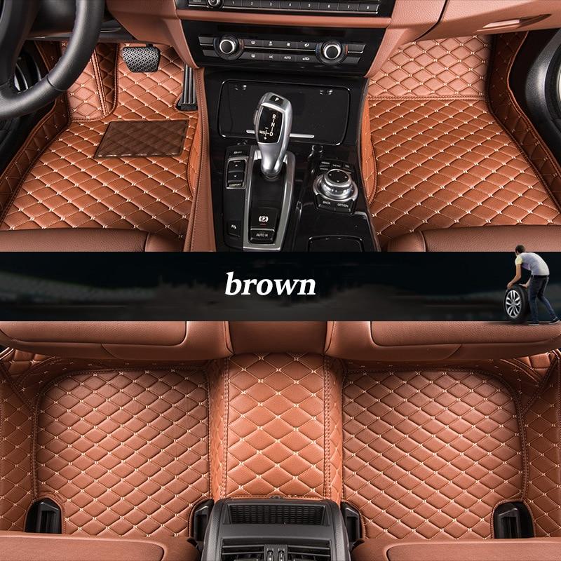 kalaisike Custom car floor mats for BYD all models F0 F3 Surui SIRUI F6 G3 M6 L3 G5 G6 S6 S7 E6 E5 car styling auto accessories высоковольтный провод byd f6 f6 s6 m6 g6
