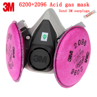 3M 6200+2096 respirator mask Genuine security 3M respirator dust mask against Spray liquid particulates Welding dust gas mask