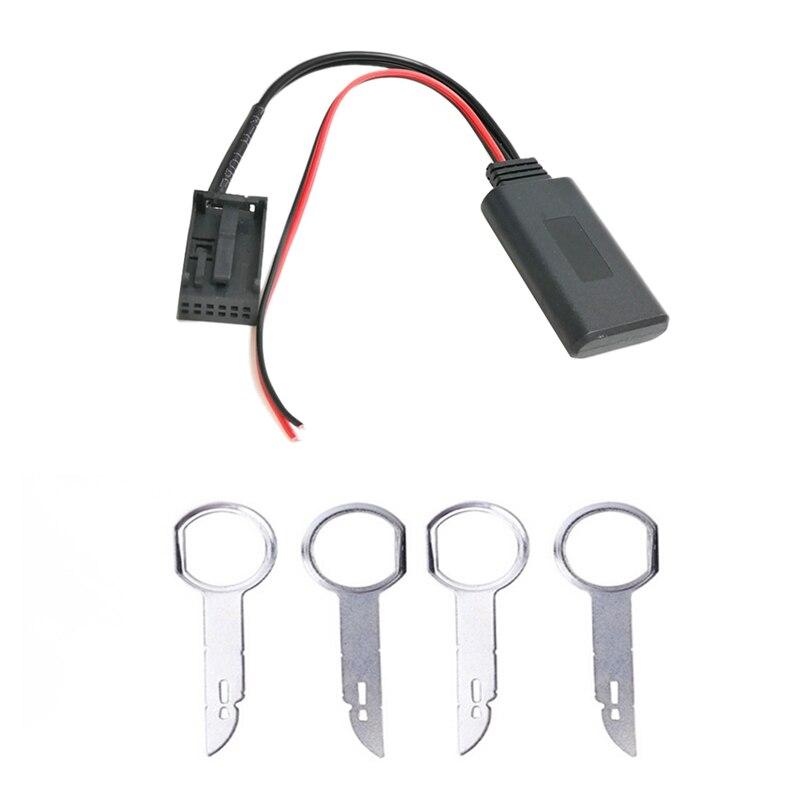 Carro 6000cd sem fio bluetooth módulo música adaptador aux cabo de áudio para ford focus mondeo