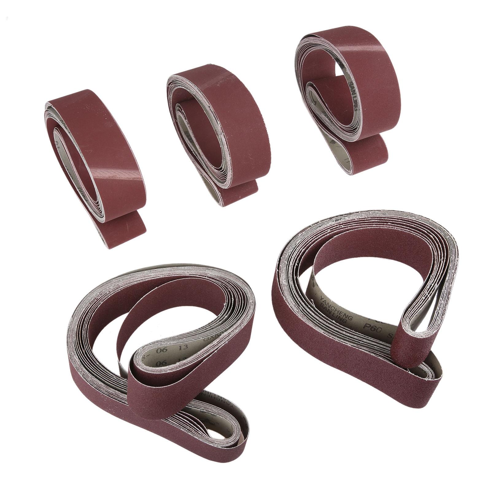 DRELD 10Pcs 50x1220mm Polishing Abrasive Sanding Belts Grit 60-600 Coarse Grinding Belt Grinder Sander Belt Dremel Accessories