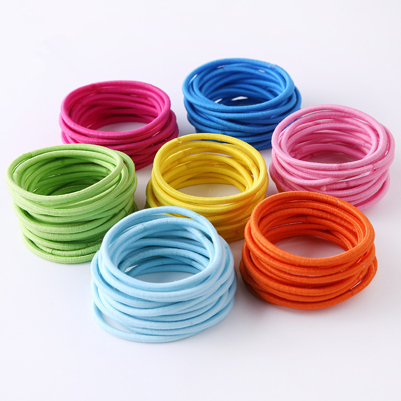Free Shipping 2018 New 100pcs/lot Baby Girl Kids Tiny Hair Accessary Hair Bands Elastic Ties Ponytail Holder Children Rubber 3