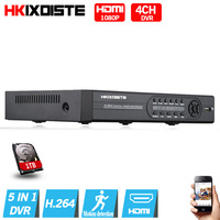 4CH AHD DVR AHD 1080P Video Recorder 5 In 1 4 Channel Hybrid DVR NVR HVR