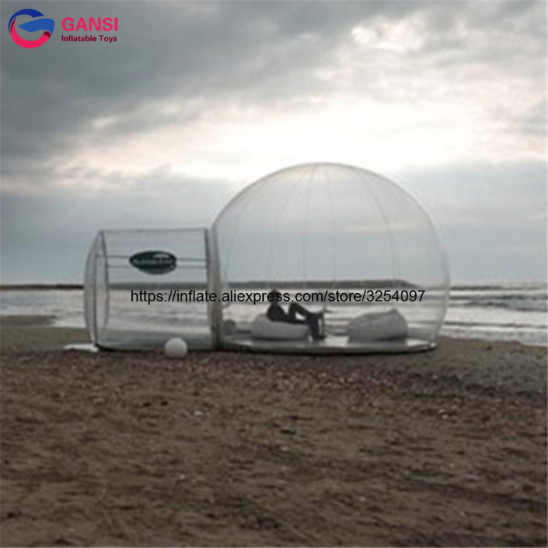 Hot sale Clear Bubble Camping Tent inflatable transparent bubble snow globe tent for sale 3m diameter blow up snow ball inflatable snow globe inflatable human size snow globe balloons for chirstmas decoration