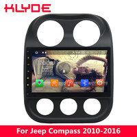 KLYDE 10.1 IPS 4G Android 8.0 7.1 Octa Core 4GB+32GB Car DVD Player Radio For Jeep Compass 2010 2011 2012 2013 2014 2015 2016