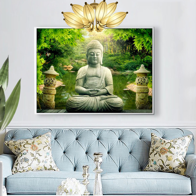 Huacan Diamond Painting Full Square New Arrival Religion 5d Diamond Embroidery 2019 Buddha Diamond Mosaic Sale