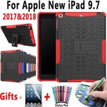 Armor Kickstand Tablet Heavy Duty Silicon Case For Apple New iPad 9.7 inch 2017 2018 A1822 A1823 A1893 Cover Coque Capa Funda