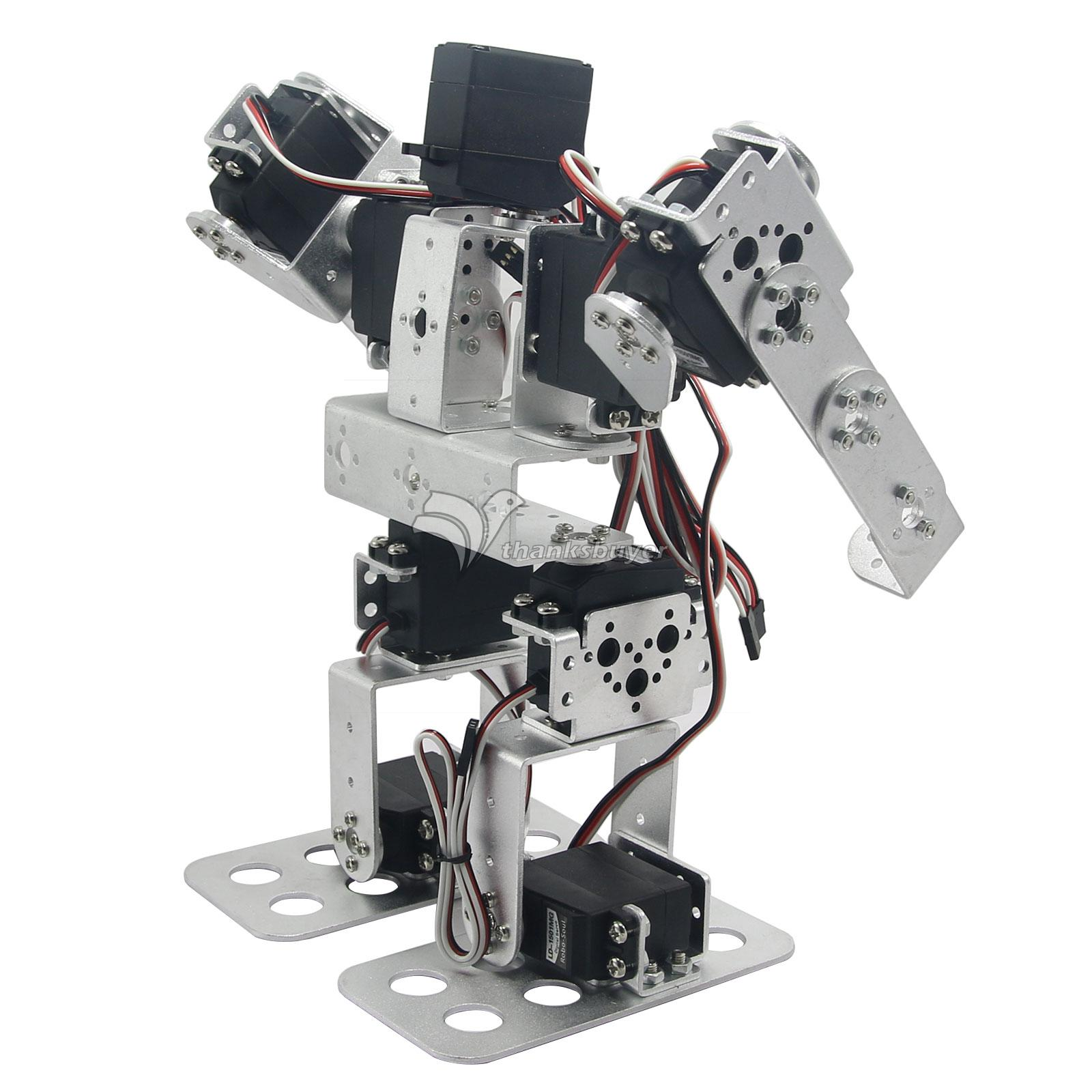 Assembled 9DOF Biped Robot Educational Robot with Metal Horn Ball Bearing LD-1501MG Servo for RC Toy new 17 degrees of freedom humanoid biped robot teaching and research biped robot platform model no electronic control system