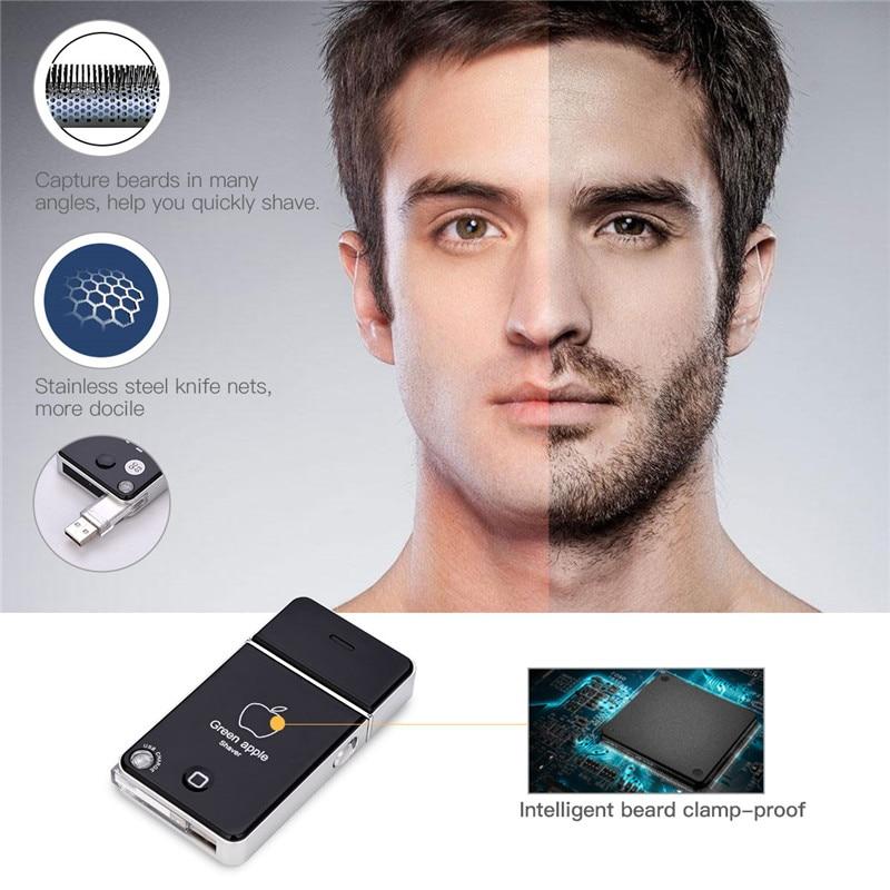 Portatile Mini Elettronica Ricaricabile USB di Carica Alternativo Singola Lama di Rasoio Elettrico rasoio Per Gli Uomini la cura del viso barba Trimero