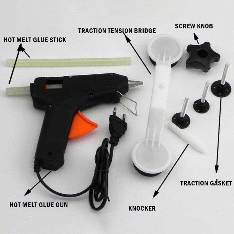 220V Car Styling Covers Car Body Damage Repair Removal Tool Glue Gun Diy Paint Care Car Repair Tools Kit Fix It Pop A Dent