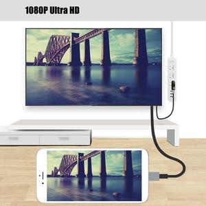 Image 4 - USB HDMI dönüştürücü Yıldırım için HDMI Ayna Kablo Adaptador Apple iPhone için X 8 7 6 S iPad HDMI Dijital AV Adaptörü