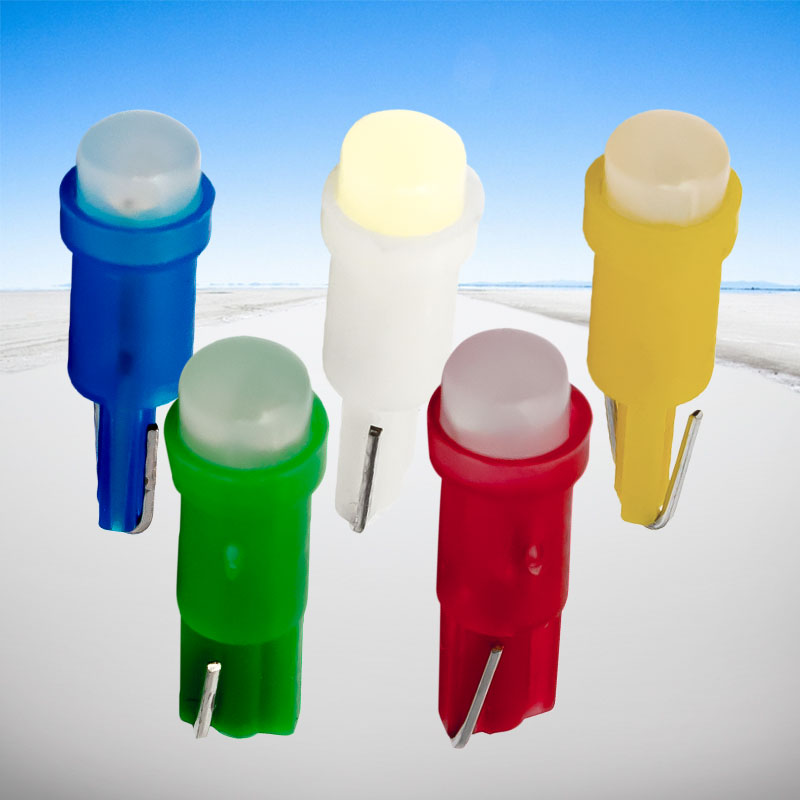 1000PCS T5 58 73 74 286 W1 2W Super Bright 3D COB Led Wedge Gauge Lamps