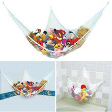 bath toy storage bag plush toys hammock children toy collection baby storage hanger nest different size bag/basket
