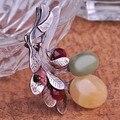 Muito Lindo Marca Colar de pedra Natural Dos Homens Broche Hijab Pinos E Broches de Prata Antigo Relogio masculino Broches Bijoux Jogo