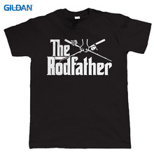 Fashion T Shirts Crew Neck The Rodfather Birthday Gift For Dad Grandad Comfort Soft Short Sleeve Shirt Men