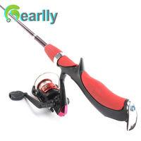 1.4 M / 35 CM nova cor vermelha estilo arma material de fibra de vidro FRP mini vara de pesca